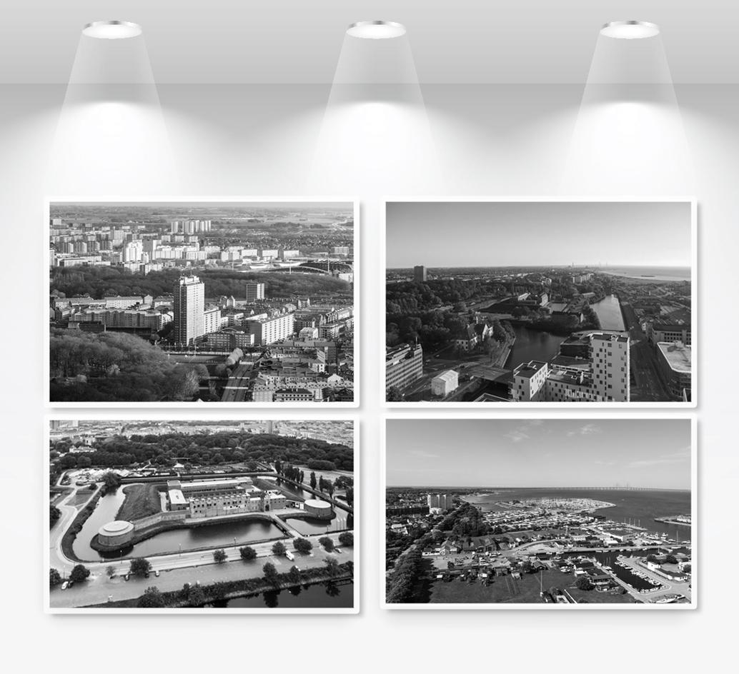 Fyra platser i Malmö